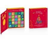 English Tea Shop Bio Adventní kalendář ve tvaru knihy červený, 25 kusů pyramidek sypaného čaje, 13 příchutí,50 g,  dárková sada