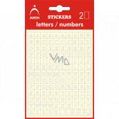 Arch Samolepicí písmena A-Z Bílá + bonus, výška 5 mm 2 archy 17 x 10 cm