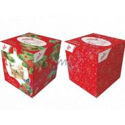 Linteo Papírové kapesníčky 3 vrstvé 60 kusů vánoční motivy v krabičce