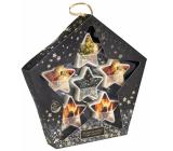 Heart & Home Hřejivé Vánoce + Vůně vánočního stromečku + Jiskřivé Vánoce + Teplo rodinného krbu vonný vosk 6 x 26 g, sada