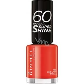 Rimmel London 60 Seconds Super Shine Nail Polish lak na nehty 402 One Last Tango 8 ml