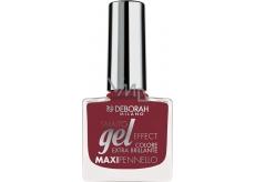 Deborah Milano Gel Effect Nail Enamel gelový lak na nehty 55 Red Sari 11 ml