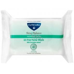 Cuticura Skin + Balance Zinek a výtažky z okurky čistící pleťové ubrousky pro normální pleť 25 kusů