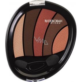 Deborah Milano Perfect Smokey Eye Palette paletka 5ti očních stínů 07 Saffron 5 g