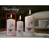 Lima Káva vonná svíčka bílá válec 50 x 100 mm 1 kus