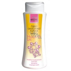 Bione Cosmetics Hyaluron Life s kyselinou hyaluronovou Čistící odličovací pleťové mléko 255 ml