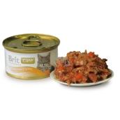 Brit Care Tuňák, mrkev + hrášek pro všechny kočky 80 g