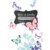 Ditipo Relax do kabelky Motýl zápisník 15 x 10,5 cm