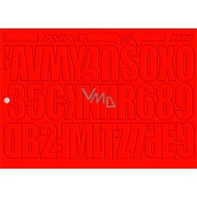 Arch Udělejte si reklamu sami červená samolepicí písmena a číslice 35 x 25 cm