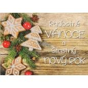 Nekupto Pohlednice s glitrem Vánoční vzor 4 Radostné Vánoce V41 PA 15 x 11 cm