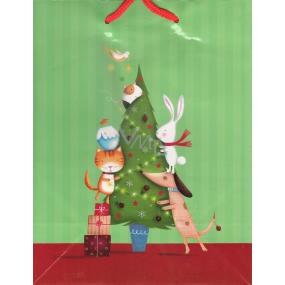Albi Dárková papírová taška střední 23 x 18 x 10 cm Vánoční TM3 80888