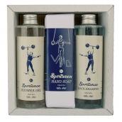 Bohemia Gifts & Cosmetics Sportsman sprchový gel 250 ml + šampon na vlasy 250 ml + toaletní mýdlo 145 g, pro muže kosmetická sada