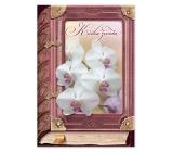 Ditipo Hrací přání k svatbě Kniha života Bílá orchidej Eva a Vašek 224 x 157 mm