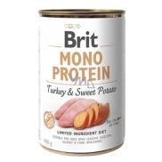 Brit Mono Protein Krocan se sladkými brambory 100% čistý krůtí protein kompletní krmivo pro psy 400 g