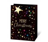BSB Luxusní Vánoční dárková papírová taška velká Merry Christmas 36 x 26 x 14 cm VDT 433-A4