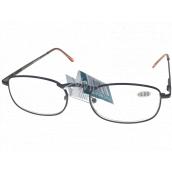 Berkeley Čtecí dioptrické brýle +2,0 hnědé kov 1 kus MC2005