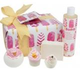 Bomb Cosmetics Ledová královna šumivý balistik 160 g + špalíček 50 g + košíček 30 g + glycerinové mýdlo 100 g + pěna do koupele 300 ml, kosmetická sada