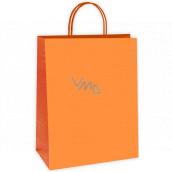 Ditipo Dárková papírová taška 27 x 12 x 37 cm EKO Oranžová