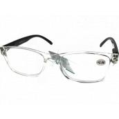 Berkeley Čtecí dioptrické brýle +3,5 plast průhledné, černé stranice 1 kus MC2166