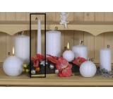 Lima Alfa Mrazivý efekt svíčka bílá kužel 22 x 250 mm 1 kus