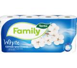 Tento Family Cotton Whiteness toaletní papír bílý 2 vrstvý 150 útržků 8 kusů