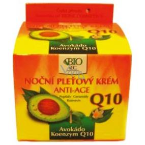 Bione Cosmetics Avokádo & Q10 Anti-Age noční pleťový krém 50 ml