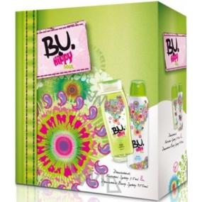 B.U. Hippy Soul sprchový gel 250 ml + deodorant sprej 150 ml, pro ženy dárková sada