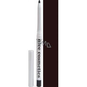Diva & Nice Vysouvací konturovací tužka na oči s ořezávátkem 08 Černohnědá 1,2 g