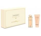 Salvatore Ferragamo Emozione parfémovaná voda pro ženy 50 ml + tělové mléko 100 ml, dárková sada