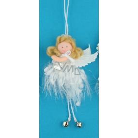 Anděl hebký s rolničkou na zavěšení 12 cm č.3