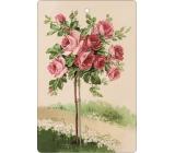 Bohemia Gifts & Cosmetics Aromatická vonná karta Růže 10,5 x 16 cm