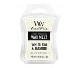 WoodWick White Tea & Jasmine - Bílý čaj a Jasmín vonný vosk do aromalampy 22.7 g