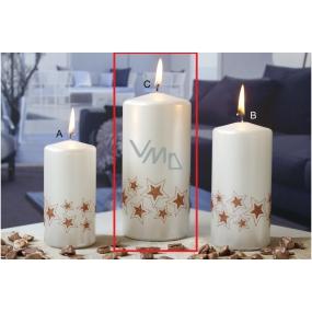 Lima Starlight svíčka bílá/měděná 70 x 150 mm 1 kus