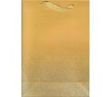 Ditipo Dárková papírová taška Glitter zlatá 26,4 x 13,6 x 32,7 cm QAB