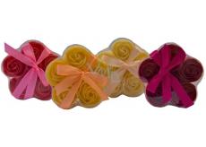 NeoCos Mýdlová růže konfety červená 5 kusů x 3 g, dárkové balení