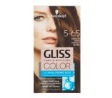 Schwarzkopf Gliss Color barva na vlasy 5-65 Oříškově hnědý 2 x 60 ml