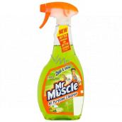Mr. Muscle Clean & Shine Citrus Lime Okna a sklo čistící prostředek rozprašovač 500 ml