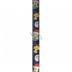Ditipo Dárkový balicí papír 70 x 200 cm Vánoční Disney Mickey Mouse tmavě modrý