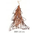 Stromek proutěný s perličkami na zavěšení 30 cm