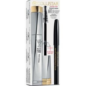 Collistar Art Design Extra Black řasenka 12 ml + Matita Professionale Occhi tužka na oči Black 1,2 g, kosmetická sada