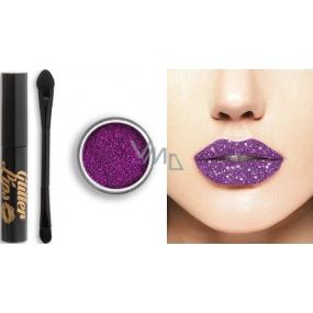 Glitter Lips dlouhotrvající lesk na rty se třpytkami Purple Reign 3,5 ml