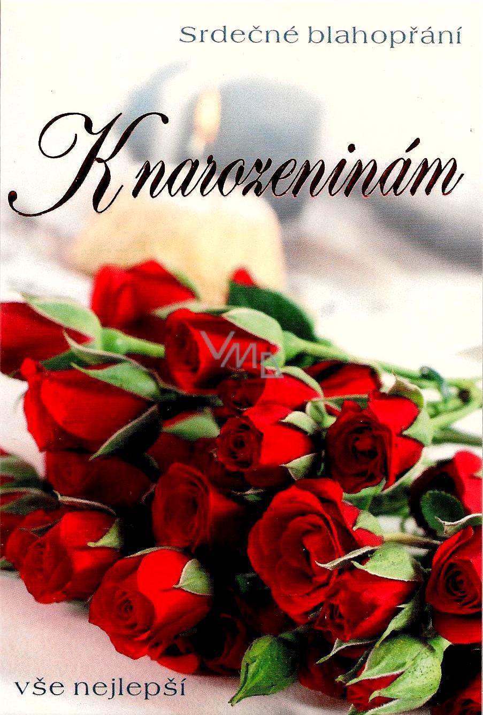 k narozeninám Nekupto Přání k narozeninám rudé růže   VMD parfumerie   drogerie k narozeninám