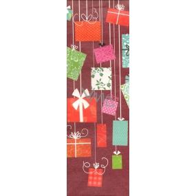 Nekupto Dárková kraftová taška na láhev 227 WCLH červená Dárky 32,5 x 10,5 x 9 cm