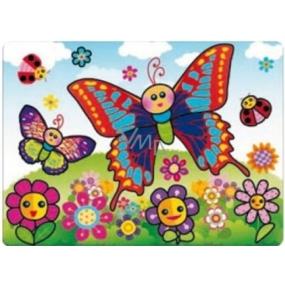 Malování vodou se štětcem Motýl 20 x 15 cm
