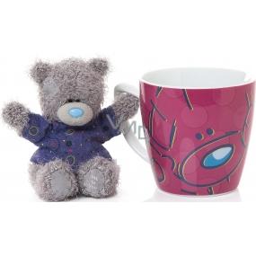 Me to You Hrneček s plyšovým medvídkem ve fialovém tričku 10 cm