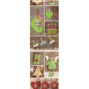 Nekupto Dárková papírová taška na láhev 33 x 10 x 9 cm vánoční 1259 50 WLH