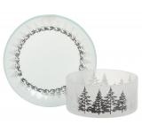 Yankee Candle Winter Trees - Zimní stromy stínítko malé + talíř malý na svíčku malou Classic 7 x 9 cm (stínítko) 12 x 12 cm