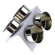 Svícen kovový na čajovou svíčku stříbrný 4 cm 4 kusy