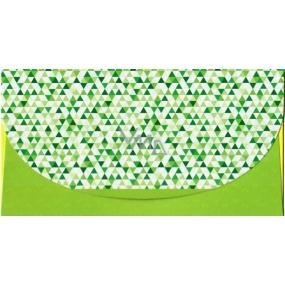 Nekupto Přání obálka na peníze Zelená se vzorem, K 3541