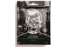 Barber Pro Pleťová maska slupovací proti černým tečkám s obsahem aktivního černého uhlí pro muže 3 x 7 g